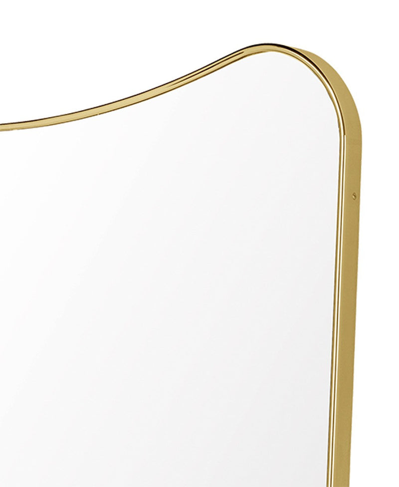 Brass Gio Ponti F.A. 33 Rectangular Wall Mirror