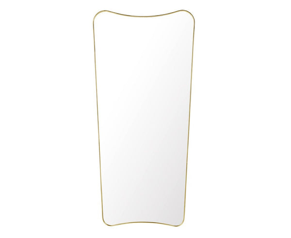 F.A. 33 Rectangular Wall Mirror - Brass - Full Length