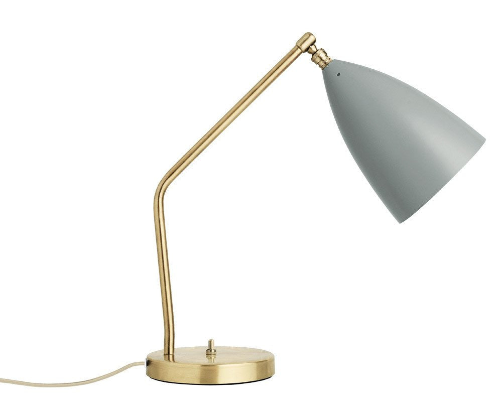 Grasshopper table lamp in blue grey