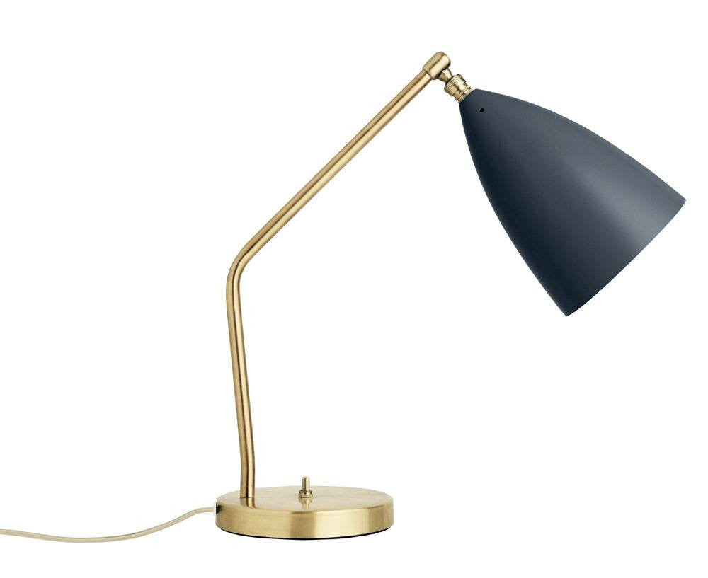 Grasshopper table lamp in anthracite grey
