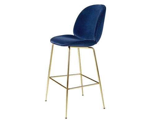 Beetle Counter Chair - Upholstered - Conic Base