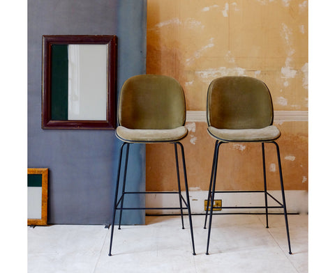 Beetle Bar Chair - Upholstered - Conic Base