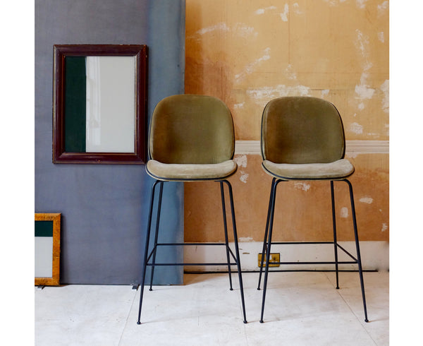 Upholstered Beetle Stool | Bar Stool & Counter Stool
