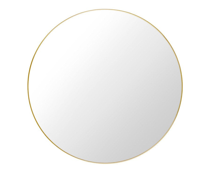 Gubi Round Wall Mirror - Brass