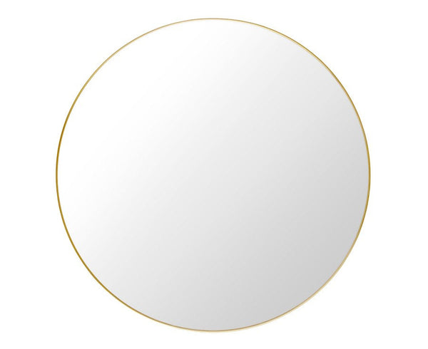 Gubi Round Wall Mirror With Polished Brass Frame | DSHOP