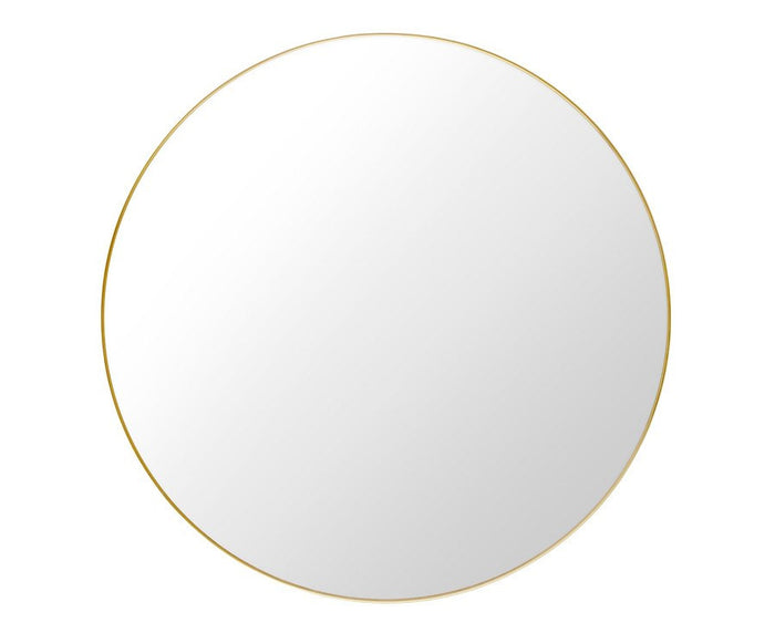 Gubi Round Wall Mirror With Polished Brass Frame