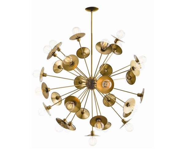 Keegan Large Chandelier in Antique Brass