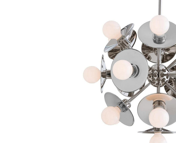 Arteriors Keegan Small Chandelier - Nickel