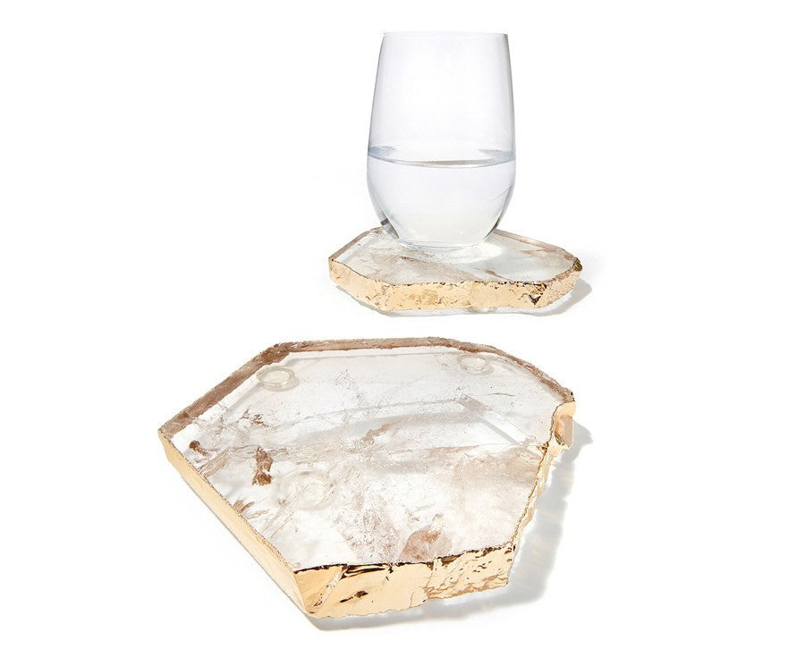 Kivita Coasters - Smokey Quartz