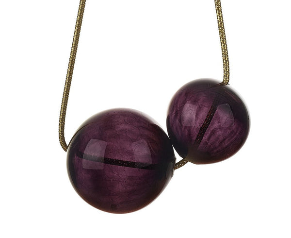 Blown Glass Bubbles - Black Cherry