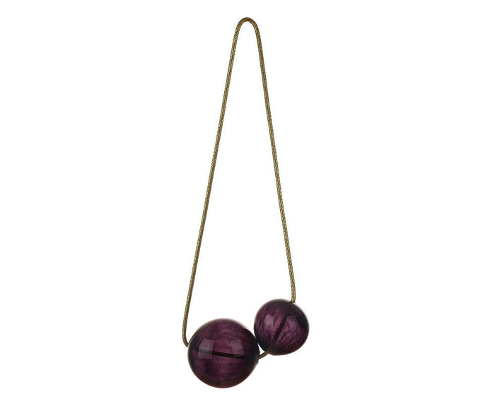 Blown Glass Cherry Bubbles - Black