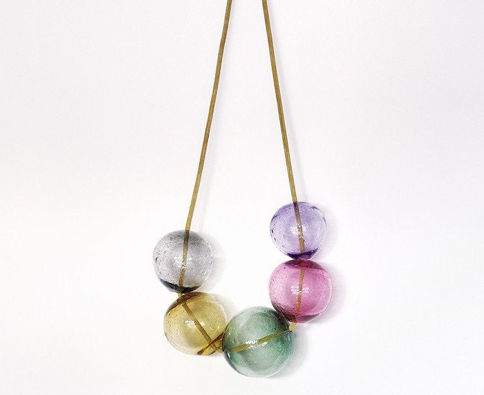 Blown Glass Bubbles - Pink by LaLouL