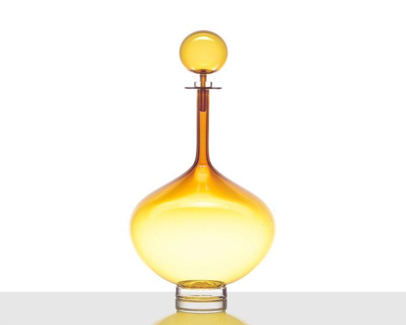 Cariati Genie Bottle Decanter - Large - Amber Yellow