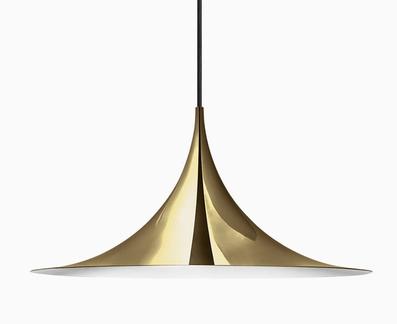 Gubi Semi Pendant Light - All Brass
