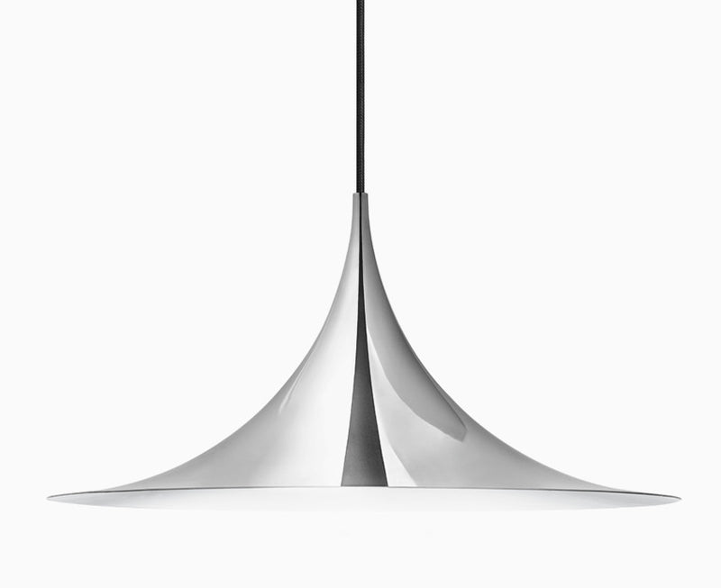 Gubi Semi Pendant Light - All Chrome