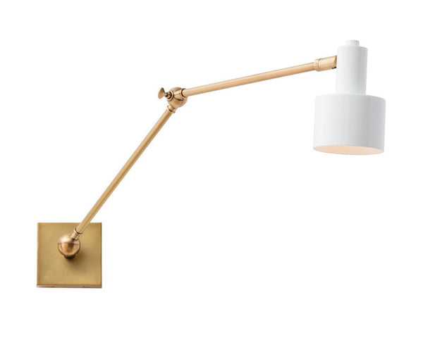 Loki Wall Lamp - White & Brass