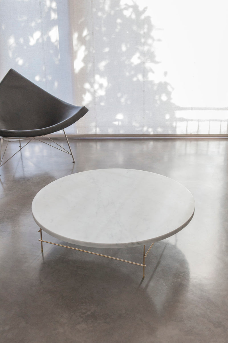 Round Carrara Marble Coffee Table | DSHOP