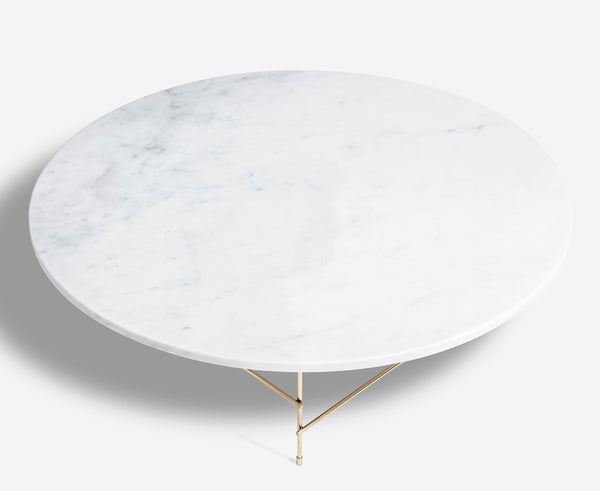 Marblelous Coffee Table - Carrara & Brass | DSHOP