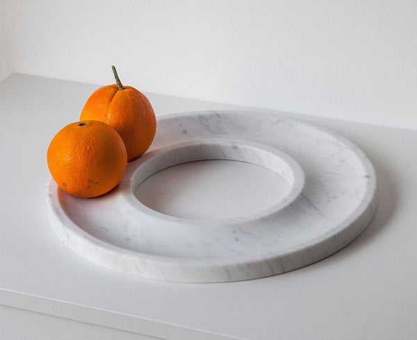 Marblelous Ring Tray - Carrara Marble