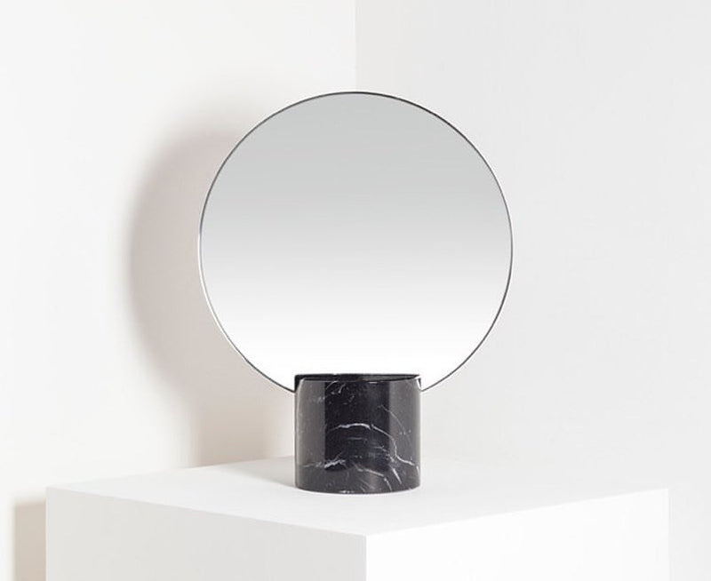 Marblelous Sun Mirror - Marquina Base