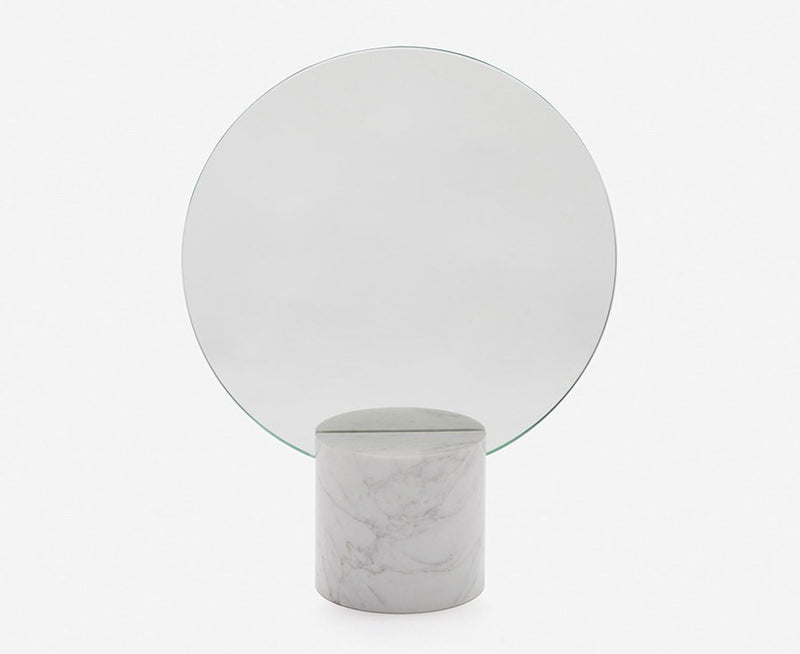 Marblelous Sun Mirror - Carrara Base