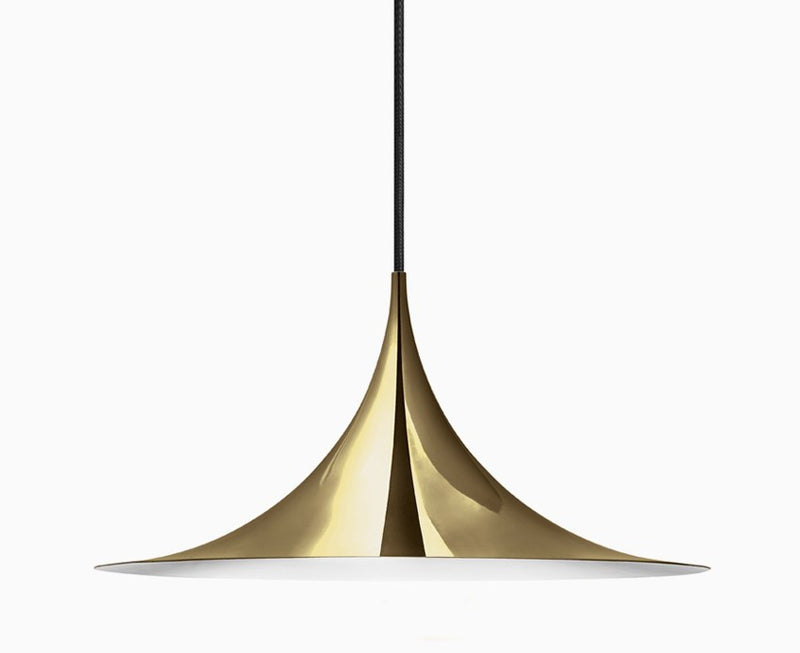 Semi Pendant Light - All Brass