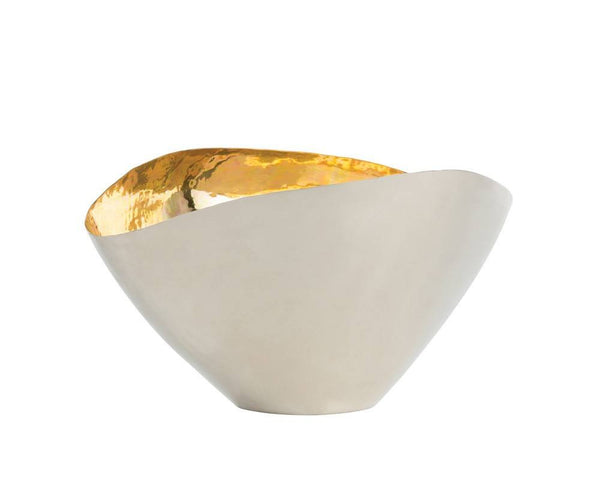 Millicent Centerpiece - Nickel & Brass Bowl