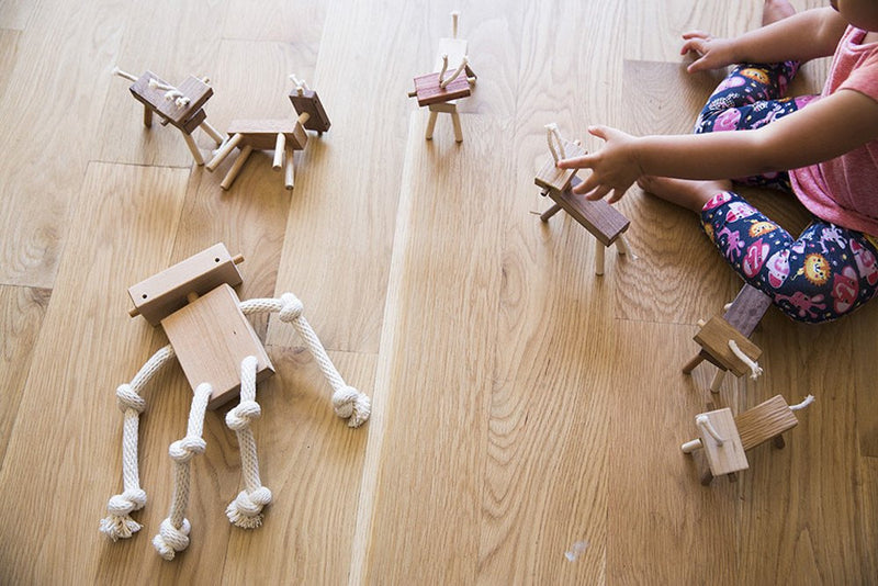 Herd of Robot Monkey Horses - Toys