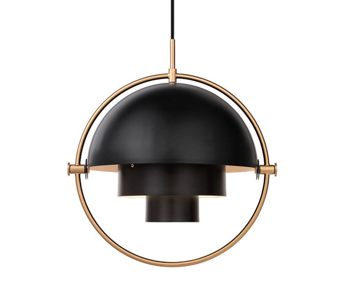 Multi-Light Pendant - Brass/Charcoal Black
