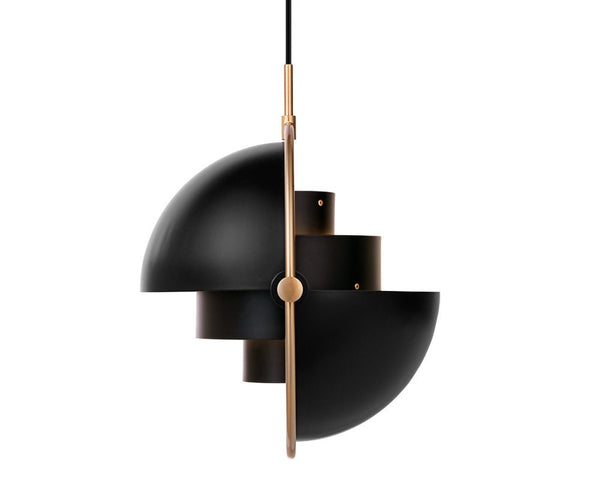 Gubi Multi-Light Pendant - Brass/Charcoal Black | DSHOP