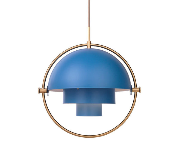 Multi-Light Pendant - Brass/Nordic Blue
