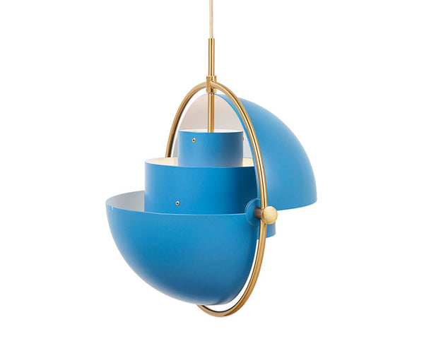 Multi-Lite Pendant - Brass/Blue
