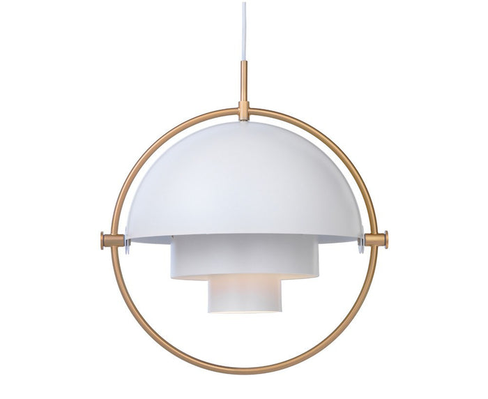Multi-Light Pendant - Brass/White