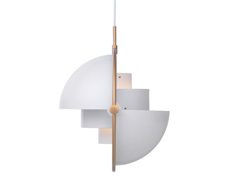 Gubi Multi-Light Pendant - Brass/White | DSHOP