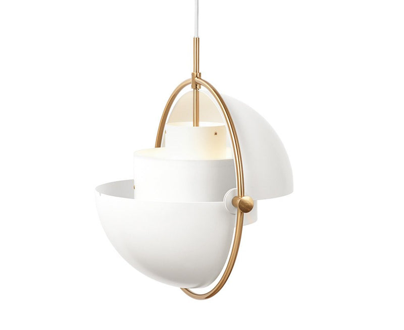 Louis Weisdorf Multi-Light Pendant - Brass/White | DSHOP