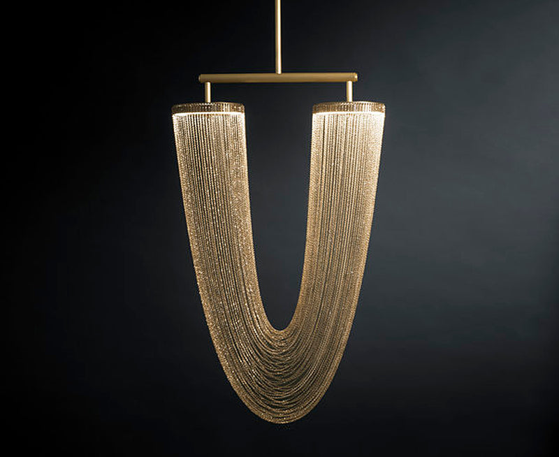 Otero Pendant in Brass Chain | DSHOP