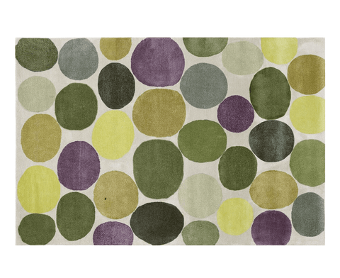 Pebbles Platinum Rug - Green