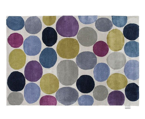 Pebbles Platinum Rug - Blue