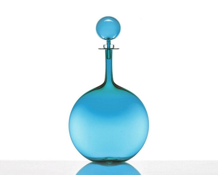 Cariati Flask Decanter - Petite - Steel Blue