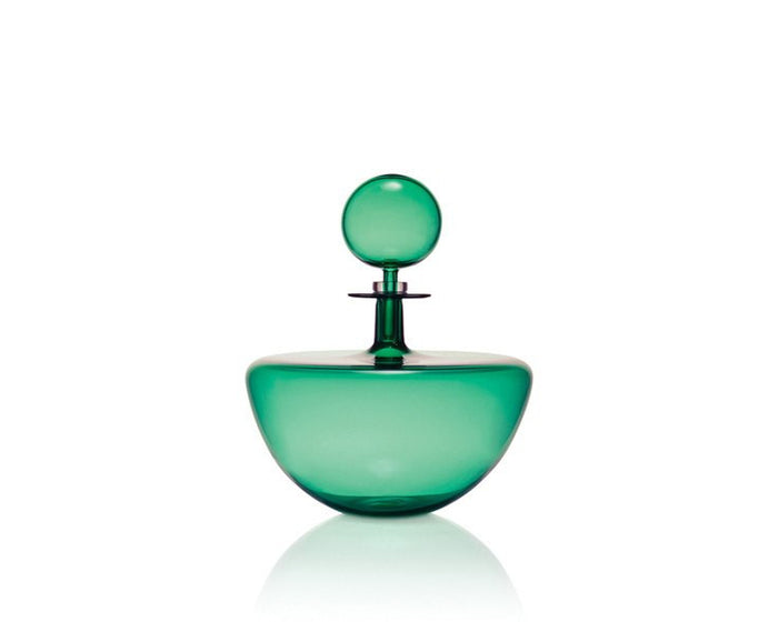 Joe Cariati Low Arc Decanter - Petite - Emerald Green