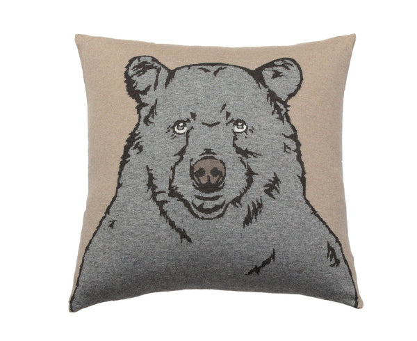 Bear Cashmere Blend Pillow - Beige Gray | DSHOP