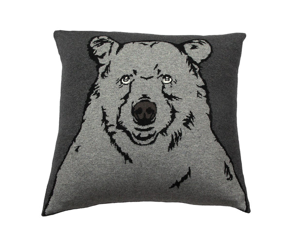 Bear Cashmere Blend Pillow - Anthracite Gray | DSHOP