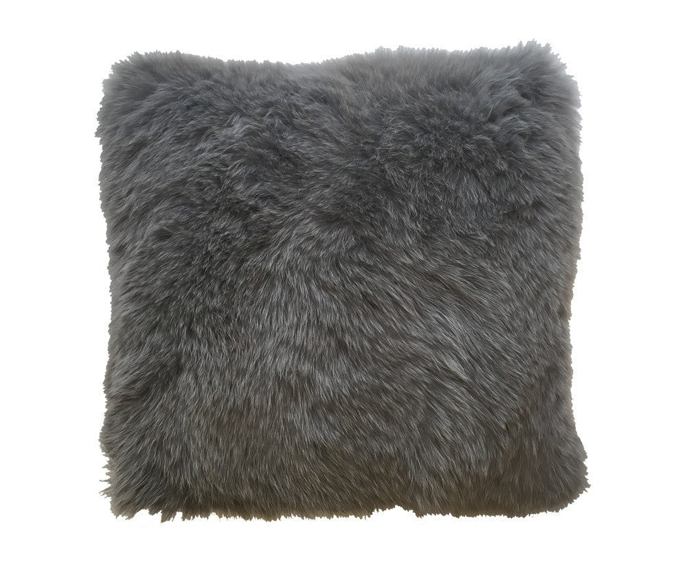 Regina Fur Pillow - Anthracite