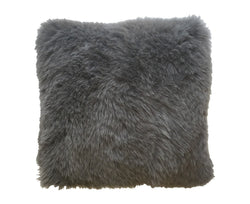 Regina Fur Pillow - Anthracite Gray