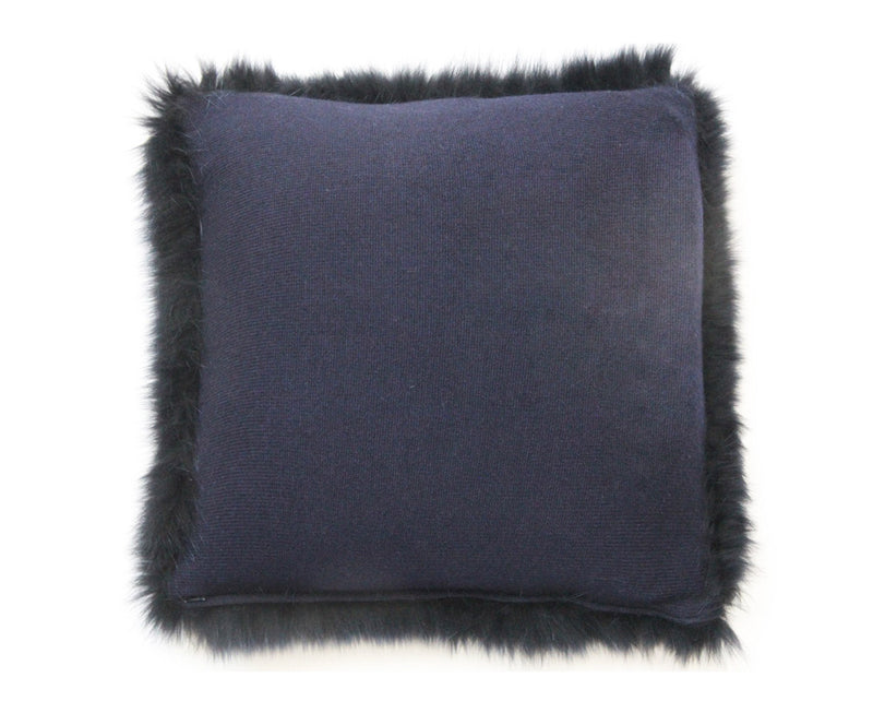 Regina Fur Pillow - Navy | DSHOP