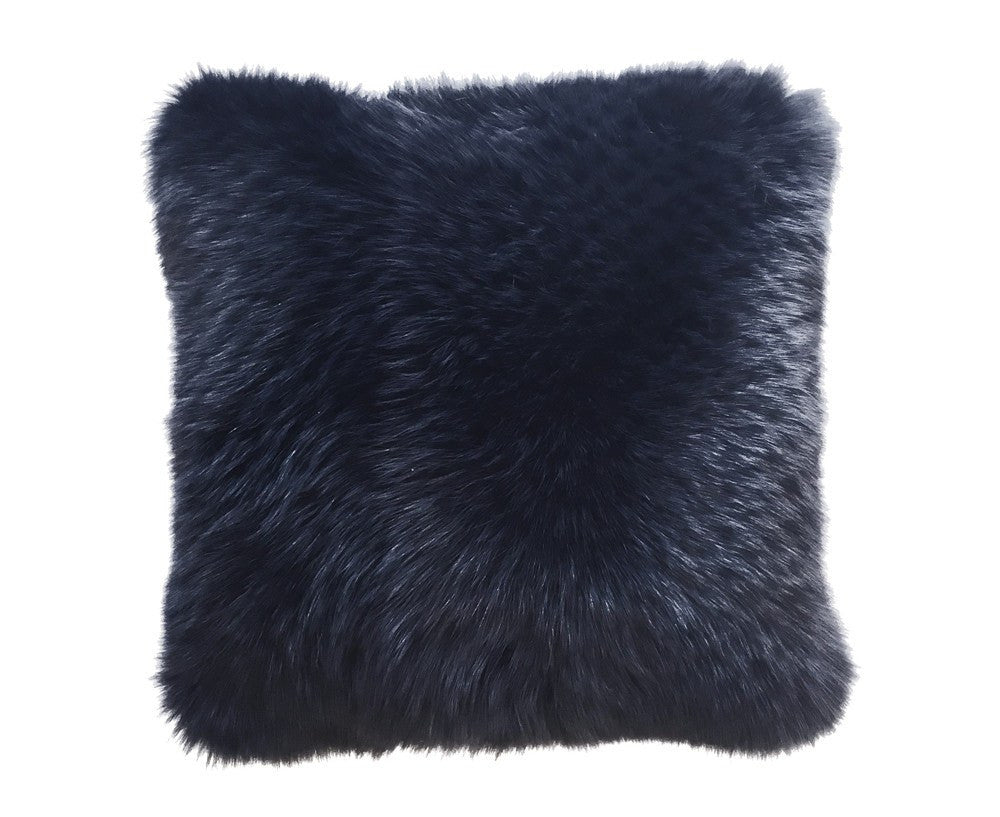 Regina Fur Pillow - Navy