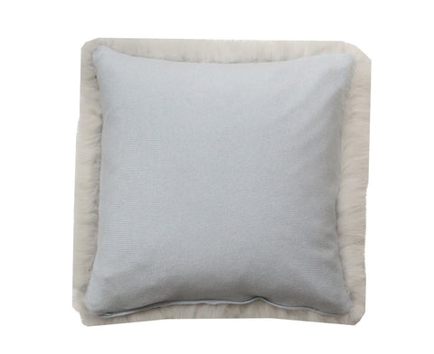 Regina Fur Pillow - Cool Pearl