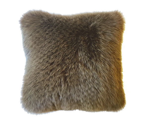 Regina Fur Pillow - Tobacco
