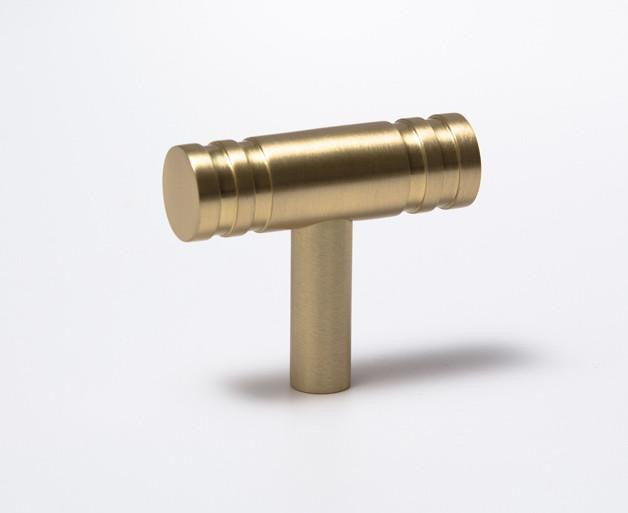 Reveal-02 T-Knob Satin Brass