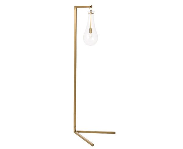 Arteriors Sabine Floor Lamp - Antique Brass